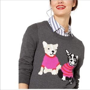 J.Crew Mercantile French Bulldog Sweater